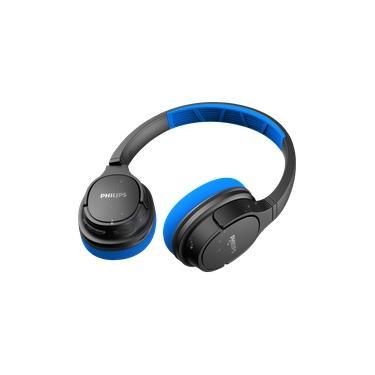Imagem de Fone de Ouvido Philips TASH402 Bluetooth Sport com Microfone IPX4 Resistente ao Suor com até 20 horas de bateria - Azul