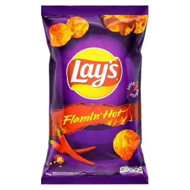 Batata Lays Picante Flamin Hot 86G - Elma Chips