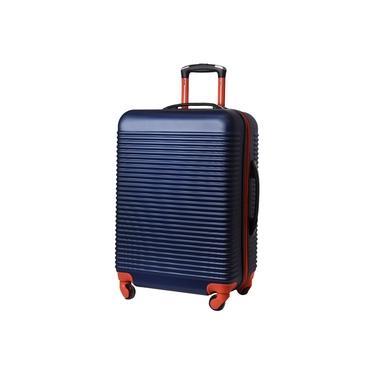 Imagem de Mala de Viagem Exeway Grande com Puxador Retrátil e Rodas 360, Azul