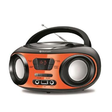 Rádio Mondial Boombox Bluetooth CD BX-18 - Preto com Laranja