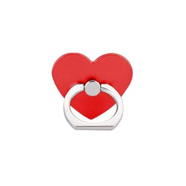 360o Rotatable Heart Shape Finger Ring Grip Suporte Para Telefone Celular Universal