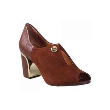 Sapato Peep Toe Luz da Lua Cervo S54156