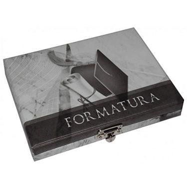 Álbum Maleta Formatura Preto e Branco Para 80 Fotos 15x21