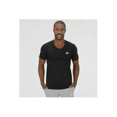 e8b7d0b545 Camiseta Nike VNK Club Embrd Ftra - Masculina - PRETO Nike