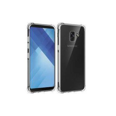Kit 2 Em 1 Capa Anti Impacto Transparente + Película De Vidro Para Samsung Galaxy A8 2018