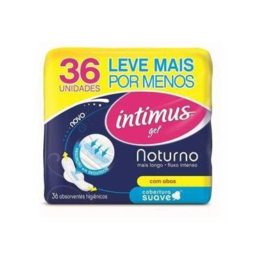 Absorvente Intimus Gel Noturno Suave Com Abas - 36 Unidades