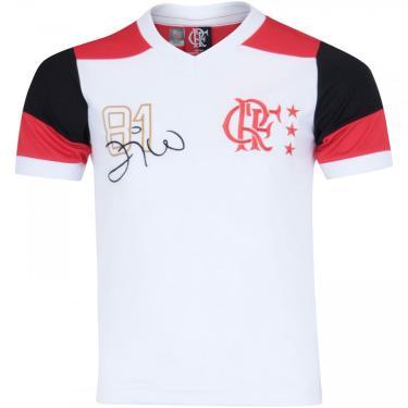 Camiseta do Flamengo Zico nº 10 - Infantil Braziline Masculino