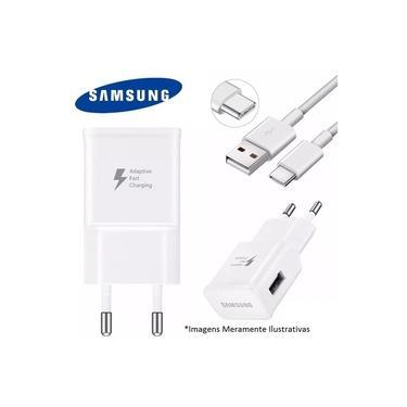 Carregador Samsung para Smartphone Galaxy A8+ BRANCO- TIPO C