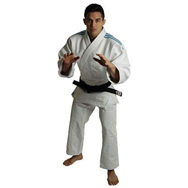 Kimono Adidas J990 Millenium Branco Listas Azuis 180