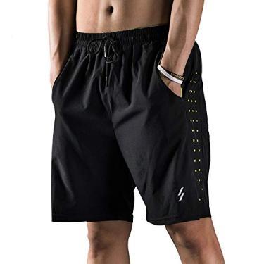 Imagem de Shorts de corrida masculino Funien com forro – Short respirável de secagem rápida para treino ativo exercício corrida ciclismo