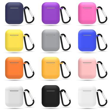 Capa de silicone sem fio fones de ouvido casos para airpods caso apple capa protetora para airpods