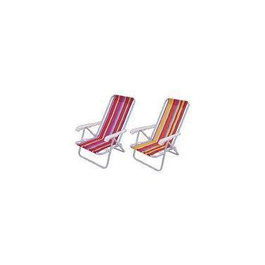 Cadeira Praia Alum 8 Posicoes - Mor