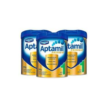 Kit Aptamil Premium 1 Danone 800g 3 Unidades