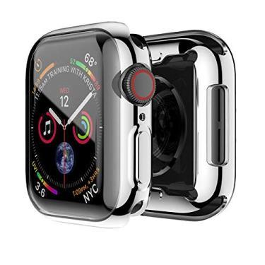 Capa Case Para Apple Watch Tpu borda Series 1 2 3 4 tamanho 44mm prata