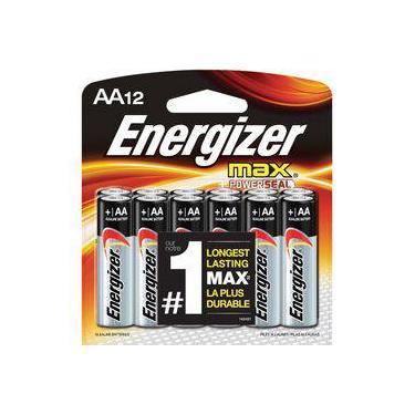 Pilha Alcalina AA 1,5V Max Energizer Cartela com 6 Pilhas