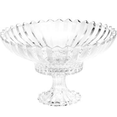Fruteira De Cristal 32Cm Com Pé Geneva - Wolff - Transparente