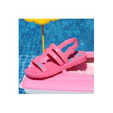 Sandalia Barbie Grendene Rosa Camelia/Rosa Infantil 22002-Iate
