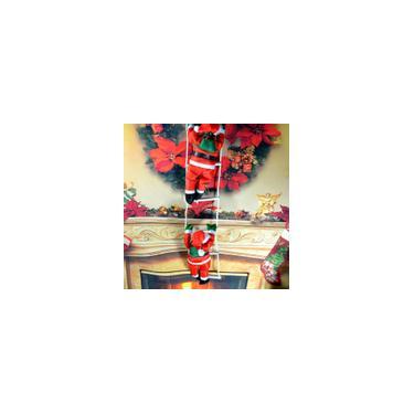 Imagem de Escalada Papai Noel Com Corda Escada Ao Ar Livre Decorações de Árvore de Natal Casa Jardim Decoração