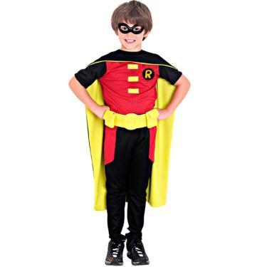 Imagem de Fantasia Robin Infantil Luxo Justiça Jovem