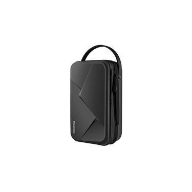 TELESIN Câmera de ação à prova d'água Caixa de armazenamento para estojo rígido Bolsa protetora Grande capacidade extensível com correias Compatível com GoPro Hero 5/6/7/8 Preto DJ