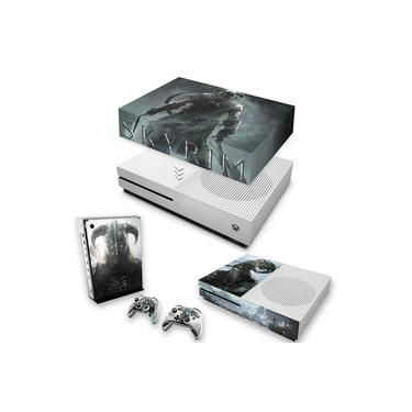 Capa Anti Poeira e Skin para Xbox One S Slim - Skyrim