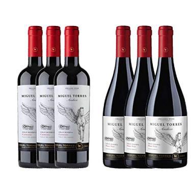 Kit 6x Vinho Tinto Chileno Orgânico Miguel Torres Carmenere e Pinot Noir 2019