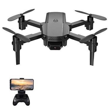 Imagem de mini drone interno, Baugger Drone KF611 RC com câmera 4K Mini Drone Quadcóptero dobrável Brinquedo interno para crianças com função Trajetória Voo sem cabeça Modo 3D Flight Auto Hover