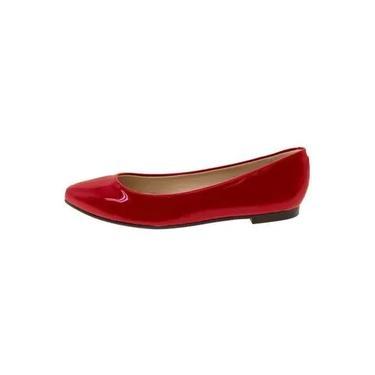 Sapatilha feminina Moleca vermelho - 5635100