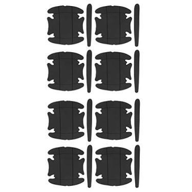 Imagem de Garneck Película protetora para maçaneta de carro 3D de fibra de carbono para maçaneta da porta do carro, protetor contra arranhões, maçaneta de porta automática, proteção contra arranhões para maçaneta de carro e veículo