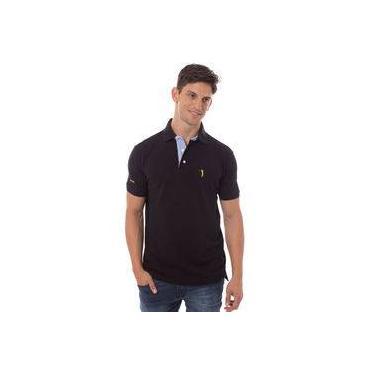 Camisa Polo Preta Lisa Aleatory a1cd9405d40d7