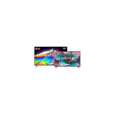 "Imagem de Smart Tv Lg 75"" 8k Ips Nanocell Wifi Bluetooth Hdr IA Thinqai Google Assistente Alexa Iot + Smart Tv Lg 65"" 65un7310 4k Uhd Wifi Bluetooth Hdr Inteligência Artificial Thinq Ai Google Assistente"