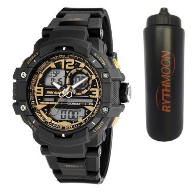 1f4abe1b45a Kit Relógio Mormaii Masculino MO0949 8U + Squeeze Automático 1lt