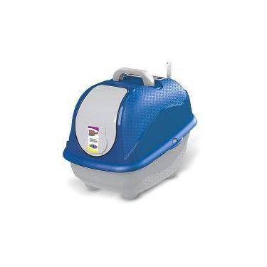 Caixa De Areia Para Gatos Banheiro Para Gatos Cat Box Pop Cor Azul