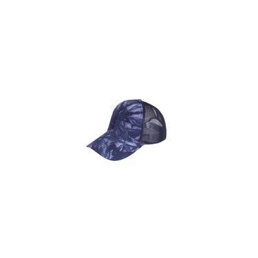 Rabo de cavalo bagunçado com estampa tie-dye Pãezinhos Trucker Boné simples viseira de beisebol chapéu unissex