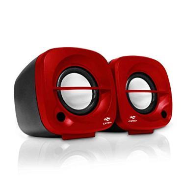 C3Tech SP-303 Speaker 2.0, Altos-Falantes para Computador, Vermelho