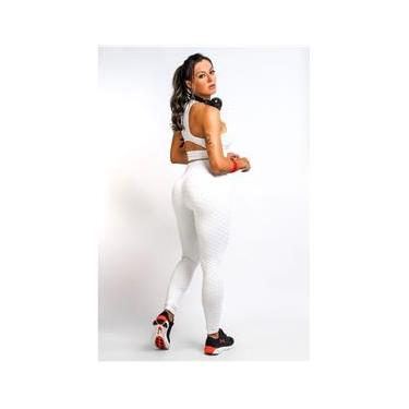 Calça Legging Feminina Branca Winner