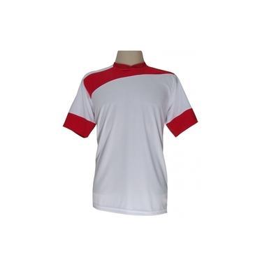 Imagem de Jogo de Camisa com 14 unidades modelo Sporting Branco/Vermelho + 1 Goleiro +