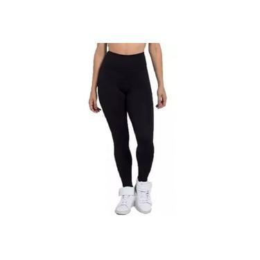 Calça Legging Feminina Plus Size Look Brasil Grossa Reforçada Preto