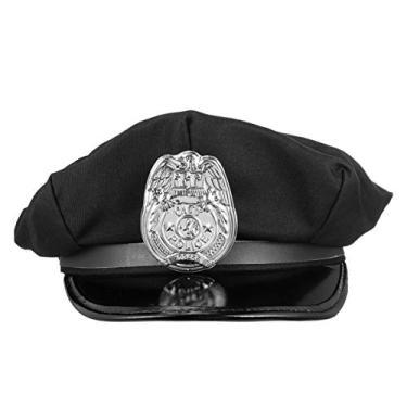 Chapéu de polícia PRETYZOOM chapéu policial chapéu oficial fantasia acessórios chapéu almirante chapéu marinheiro chapéu capitão chapéu chapéu chapéu chapéu chapéu marinho chapéu chapéu chapéu chapéu marinho chapéu chapéu chapéu para festa cosplay preto