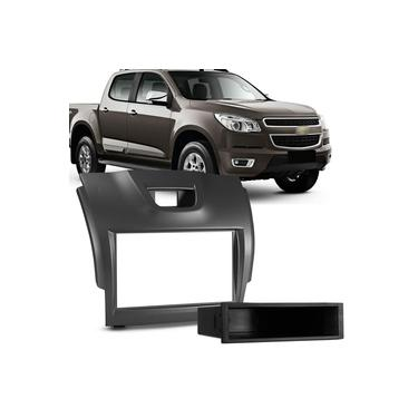 Moldura do Painel 2 Din 1 Din Chevrolet S10 Blazer 12 a 16 Grafite Porta Objetos Encaixe Sob Medida
