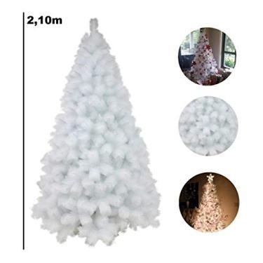 Árvore De Natal Pinheiro Branco De Luxo 2.10m 566 Galhos