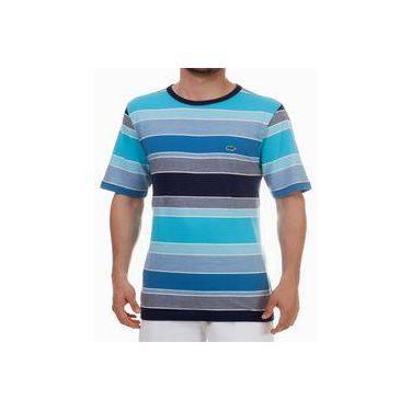 83401097c4 Camiseta listrada Pau a Pique Azul Turquesa