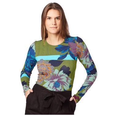 Sommer Blusa Estampada Feminino, M, Off/Verde/Amarelo/Azul/Rosa/Laranja/Roxo/Marinho