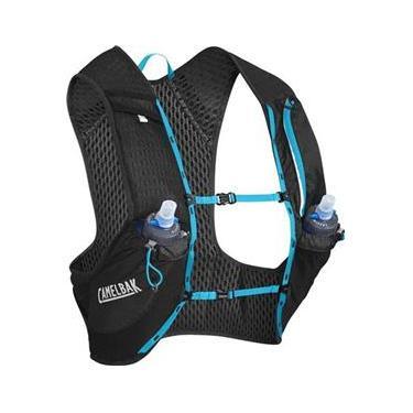 Mochila de Hidratação Nano Vest S CamelBak Preto para Ciclismo + 2 Garrafas