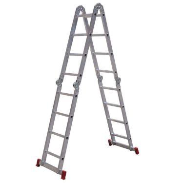 Escada de Alumínio Articulada 13x1 4x4 com 16 Degraus - Botafogo