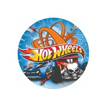 Imagem de Painel Redondo Personalizado Tema Hot Wheels