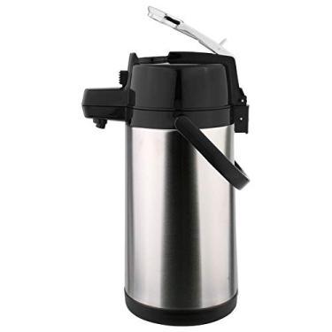 Imagem de Garrafa térmica pressão em Aço inox 2,5 litros com alavanca - Termopro