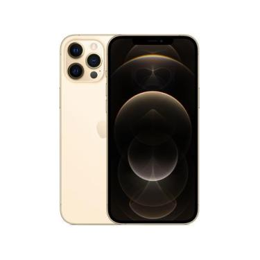 Imagem de Iphone 12 Pro Max Apple 128Gb Dourado 6,7 - Câm. Tripla 12Mp Ios + Car