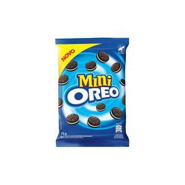 Biscoito Oreo Mini Chocolate Com Recheio De Baunilha Pacote 35g