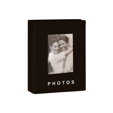 Classic Álbum 100 fotos 13x18 Capa Dura Janela Personalizável PRETO